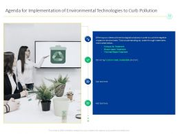 Agenda For Implementation Of Environmental Technologies To Curb Pollution Below Ppt Powerpoint Diagram Ppt