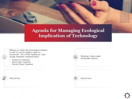 Agenda For Managing Ecological Implication Of Technology Below Ppt Powerpoint Presentation Deck