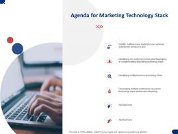 Agenda For Marketing Technology Stack Ppt Powerpoint Presentation File Shapes
