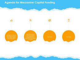 Agenda For Mezzanine Capital Funding Ppt Powerpoint Presentation Slides Introduction