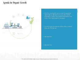 Agenda For Organic Growth Ppt Powerpoint Presentation Infographics
