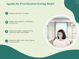Agenda For Prioritization Scoring Model Benefits Ppt Powerpoint Gallery Designs