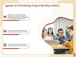Agenda For Prioritizing Project Workflow Matrix N334 Powerpoint Presentation Icons