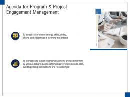 Agenda For Program And Project Engagement Management Ppt Sample