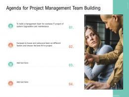 Agenda For Project Management Team Building Ppt Brochure