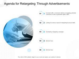 Agenda For Retargeting Through Advertisements N399 Ppt Slides