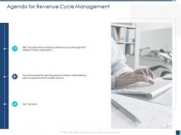 Agenda For Revenue Cycle Management Best Bid Ppt Powerpoint Presentation Professional Layout