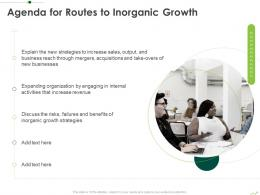 Agenda For Routes To Inorganic Growth Routes To Inorganic Growth Ppt Professional