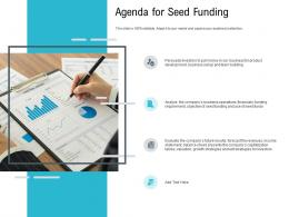 Agenda For Seed Funding Pitch Deck Raise Seed Capital Angel Investors Ppt Microsoft