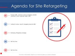 Agenda For Site Retargeting N406 Powerpoint Presentation Tips