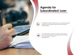 Agenda For Subordinated Loan Business N55 Ppt Powerpoint Presentation Gallery
