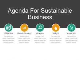 Agenda For Sustainable Business Good Ppt Example