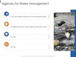 Agenda For Waste Management Municipal Solid Waste Management Ppt Summary