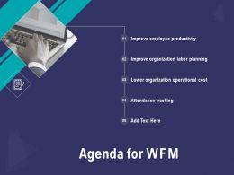 Agenda For WFM N281 Ppt Powerpoint Presentation Skills