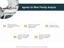 Agenda For Work Priority Analysis Ppt Powerpoint Presentation Infographics Slide Portrait