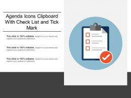 Agenda Icons Clipboard With Check List And Tick Mark