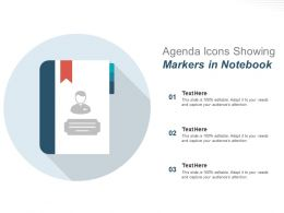Agenda Icons Showing Markers In Notebook