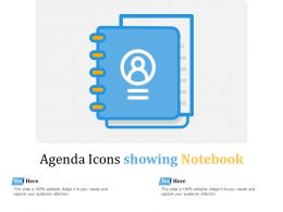 Agenda Icons Showing Notebook
