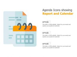 Agenda Icons Showing Report And Calendar
