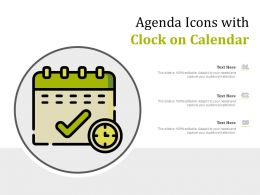 Agenda Icons With Clock On Calendar