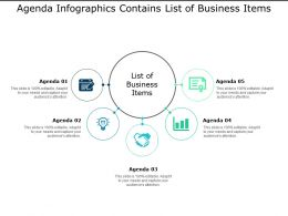 Agenda Infographics Contains List Of Business Items