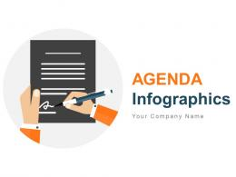 Agenda Infographics Contains List Of Business Items Powerpoint Presentation Slides