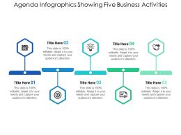 Agenda Infographics Showing Five Business Activities