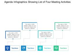 Agenda Infographics Showing List Of Four Meeting Activities