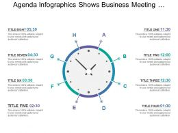 Agenda Infographics Shows Business Meeting Timeline