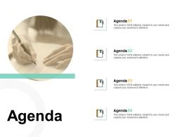 Agenda Knowledge F183 Ppt Powerpoint Presentation Outline Smartart