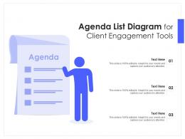 Agenda List Diagram For Client Engagement Tools Infographic Template