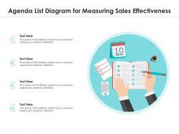 Agenda List Diagram For Measuring Sales Effectiveness Infographic Template