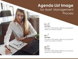 Agenda List Image For Asset Management Process Infographic Template