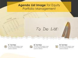 Agenda List Image For Equity Portfolio Management Infographic Template