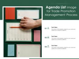 Agenda List Image For Trade Promotion Management Process Infographic Template
