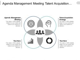 agenda_management_meeting_talent_acquisition_strategy_marketing_strategy_cpb_Slide01