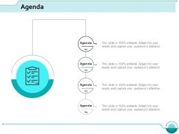 Agenda Marketing Ppt Styles Infographic Template