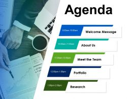 Agenda Meet The Team Portfolio C307 Ppt Powerpoint Presentation Pictures Icon