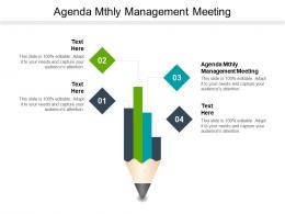 Agenda Mthly Management Meeting Ppt Powerpoint Presentation File Mockup Cpb