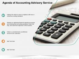 Agenda Of Accounting Advisory Service Match Ppt Powerpoint Presentation Professional Show