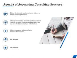 Agenda Of Accounting Consulting Services M1670 Ppt Powerpoint Presentation Ideas Show