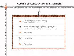 Agenda Of Construction Management Plan M1166 Ppt Powerpoint Presentation Inspiration Graphics Tutorials