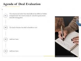 Agenda Of Deal Evaluation Deal Evaluation Ppt Powerpoint Presentation Inspiration