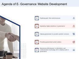 Agenda Of E Governance Website Development Ppt Inspiration Show