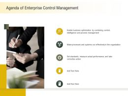 Agenda Of Enterprise Control Management Take Ppt Powerpoint Presentation Infographics Outfit