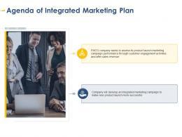 Agenda Of Integrated Marketing Plan Developing Integrated Marketing Plan New Product Launch