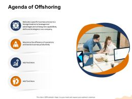 Agenda Of Offshoring And Cost Ppt Powerpoint Presentation Icon