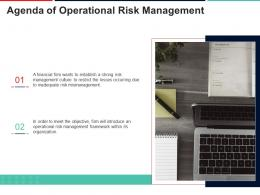 Agenda Of Operational Risk Management Approach To Mitigate Operational Risk Ppt Guidelines
