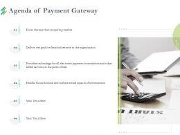 Agenda Of Payment Gateway M2204 Ppt Powerpoint Presentation Slides Show