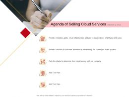 Agenda Of Selling Cloud Services Provide M2713 Ppt Powerpoint Presentation Inspiration